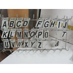 Hillman Reflective 1'' Letters Stickers Lot INCLUDES PEG DISPLAY