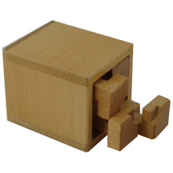 Indent interlocking packing puzzle in a box