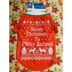 American Kennel Club Red/White Holiday Dog Shirt Size L