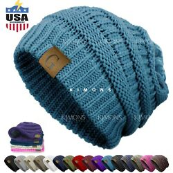 Kyпить Women's Men Knit Slouchy Baggy Beanie Oversize Winter Hat Ski Slouchy Cap C на еВаy.соm