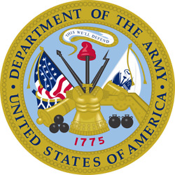 Department of the Army 1775 United States America Sticker 3 Inch Laptop Decal