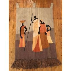 Kyпить SETSOTO DESIGN, Lesotho African Figures Tapestry Wall Hanging 24