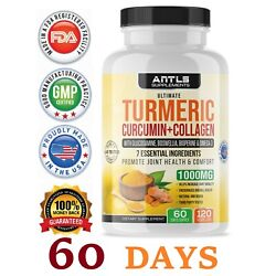 Turmeric Curcumin,Joint Pain Relief, Support,Collagen,Glucosamine Chondroitin