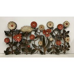 "Kyпить Mid Century 1966 SYROCO Brown Orange Flower Floral Vintage Wall Hanging 7022 42"" на еВаy.соm"