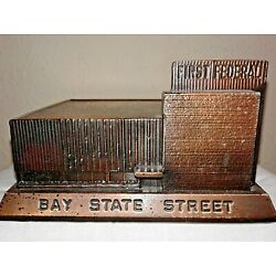 Kyпить First (1st) Federal Savings Bank of Alhambra, CA Souvenir Building (Rare) на еВаy.соm