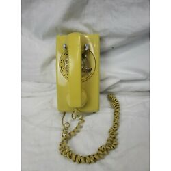 Kyпить Vintage WESTERN ELECTRIC YELLOW Rotary Dial Wall Phone на еВаy.соm