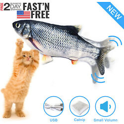 Kyпить Electric Cat Toy Realistic Moving Wiggle Fish Interactive Flopping Plush Toy USB на еВаy.соm