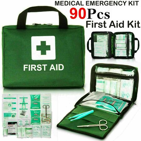 img-90 Piece First Aid Kit Emergency Medical Bag Travel Car Home Taxi Work Workplace