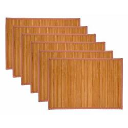Kyпить Treasure Co Trio Natural Bamboo Placemats (Set of 6, 12 in x 18 in) Environment на еВаy.соm