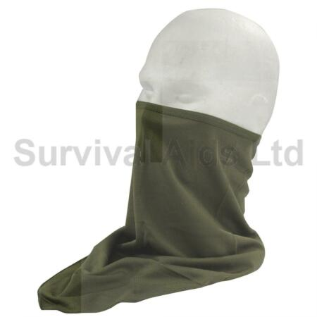 img-Mil-Tec Face Scarf, Olive Drab