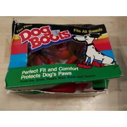 Vintage Four Paws Red Rubber Dog Boots Fits All Breeds Size Medium