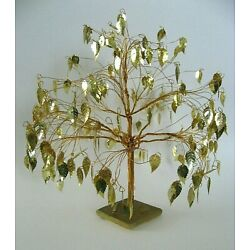 Kyпить VINTAGE MID CENTURY DREAM TREE TWISTED WIRE KINETIC SCULPTURE GOLD LEAVES на еВаy.соm