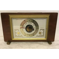 Kyпить Vintage Brass and Wood Barometer by Airguide Instrument Co. Temperature-Humidity на еВаy.соm