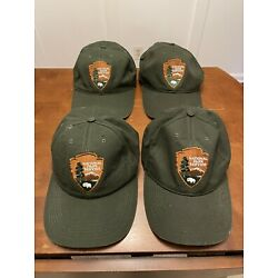 Kyпить Lot of 4 US National Park Service hats with leather adjustable strap  на еВаy.соm