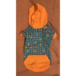 Blooming Brights Pullover Dog Hoodie by East Side Stay Dry Belly S XXS-Large