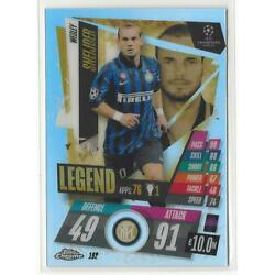 2020-21 Topps Chrome Match Attax Wesley Sneijder Refractor Legend FC Milano