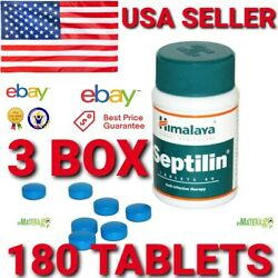 OFFICIAL SEPTILIN HIMALAYA 3 BOX 180 TABLETS  IMMUNITY BOOST ALLERGIC DISEASES
