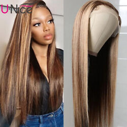 UNice Mogolian Ombre Straight Lace Part Human Hair Wig For Women 150% Density US
