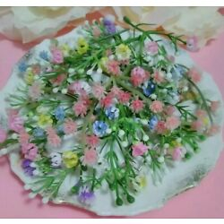 Kyпить 20 Miniature Flower Stems Plastic Easter Corsage  Baskets Crafts Unused 1/4