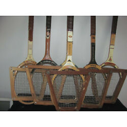 Kyпить Lot Of 6 Wood Tennis Racquets на еВаy.соm