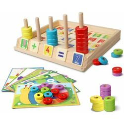Kyпить Lydaz Wooden Puzzles Counting Toys Montessori Preschool Learning Educational ... на еВаy.соm
