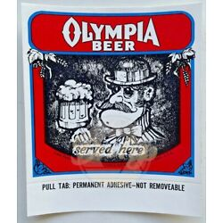 Kyпить Olympia Beer Served Here Decal/Sticker Vintage Made USA NOS на еВаy.соm