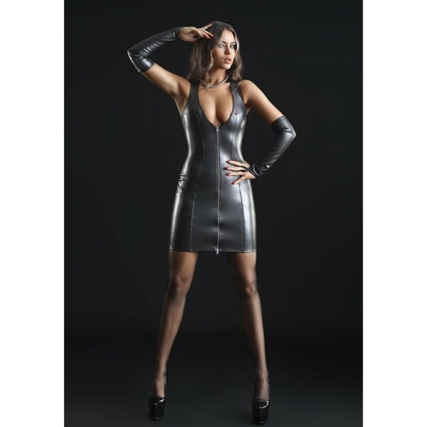 FrankreichPatrice Catanzaro, Taylor, Dress Zip Slinky Glamour Sexy IN wetlook Lacquered
