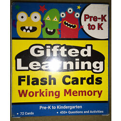 Kyпить Gifted Learning Pre K to Kindergarten Flash Cards Working Memory 450+ Question на еВаy.соm