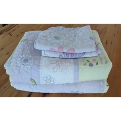 Kyпить Pottery Barn kids twin comforter and pillow sham / set of two / floral print на еВаy.соm