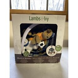Kyпить Lambs & Ivy Bow Wow Buddies Musical Crib Mobile - Puppy Dog Sports - Used на еВаy.соm