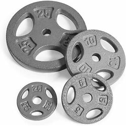 Cap Standard Weight Plates Cast Iron 1'' Hole 2.5 5 10 25 lb Pound Pairs Singles