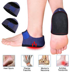 1Pair Heel Protectors Pads Plantar Fasciitis Arch Wrap Support Foot Pain Relief