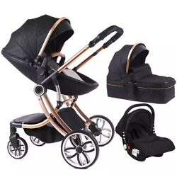 Kyпить Infant Car seat baby stroller newborn 3 in 1 combo, Bassinet, toddler, Leather на еВаy.соm