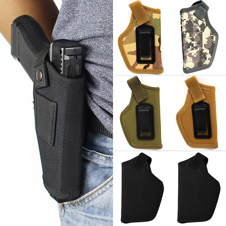 img-Military Camo Tactical Police Gun Pistol Holster Magazine Carry Waist Belt Pouch