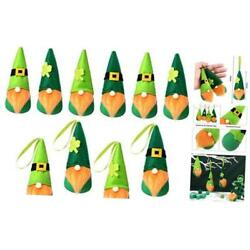 Kyпить St. Patrick's Day Gnome Leprechaun Swedish Gnome Ornaments Set Irish 12 Orange на еВаy.соm