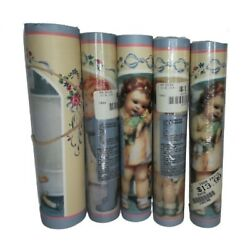 Kyпить Cherubic Children Wall Paper Borders by Sunworthy Lot of 4 with 1 Partial Roll на еВаy.соm