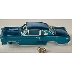 Kyпить NOS Autoworld Blue 1966 Chevy Nova HO Slot Car Body Fit Aurora Dash Tjet Chassis на еВаy.соm