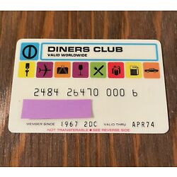 Kyпить Vintage Credit Card Diners Club Late 60's - Early 70's на еВаy.соm