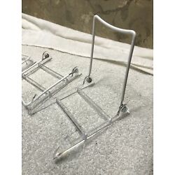 Gibson Holders Large Display Stand Clear Base/White Wire, Pack/Lot of 3