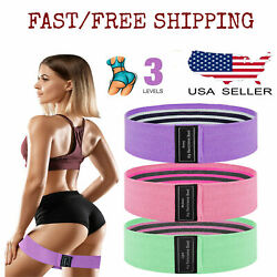 Resistance Bands Loop 3 Set Strength Fitness Gym Exercise Yoga Workout Pull Up