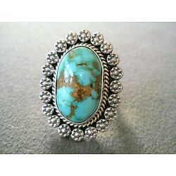 Kyпить M & R CALLADITTO Native American Carico Turquoise Sterling Silver Ring Size 8.5  на еВаy.соm