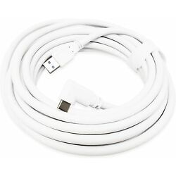 White 16.5ft (5M) Link Cable for Oculus Quest 2 Type-C to USB A Charging Cord