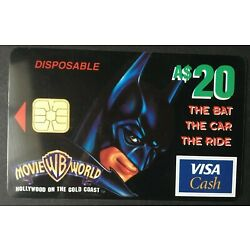 Kyпить 1997 $20 - VISA CASH CARD - *BATMAN*  perfect condition issued by ANZ bank на еВаy.соm