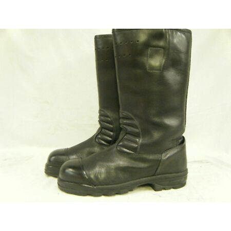 img-German Army Baltes Firefighter Waterproof Steel Toe Cap Leather Boots All Size