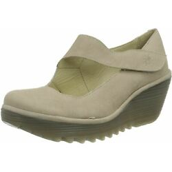 Fly london Yasi682fly Concrete Womens Leather Wedge Shoes