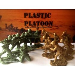 Kyпить NEW! PLASTIC PLATOON,PACIFIC WWII, Americans vs Japanese,12 rubber soldiers1:32  на еВаy.соm