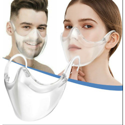 Kyпить CLEAR Face Mask Shield Plastic Reusable Protective Cover Transparent Anti Fog на еВаy.соm