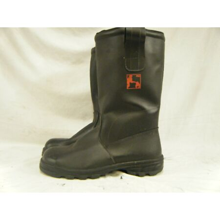 img-German Army Military Firefighter Waterproof Steel Toe Cap Leather Boots Size