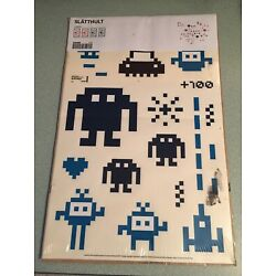 Ikea Slatthult 902.281.74 Space Invaders Wall Decals 15329 Atari 2011 Stickers