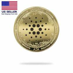 Kyпить Crypto Currency Cardano (ADA) Physical Crypto Collectable Coin Gold Color на еВаy.соm